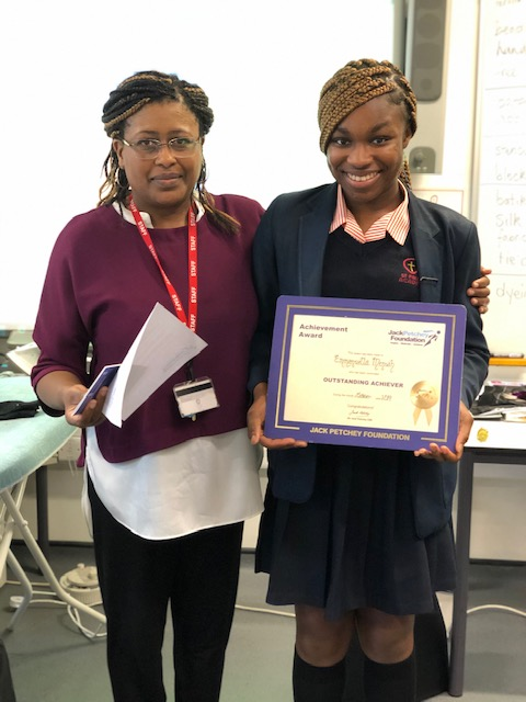 Winner of the Jack Petchey Award